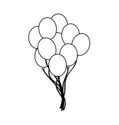 balloons icon image vector image