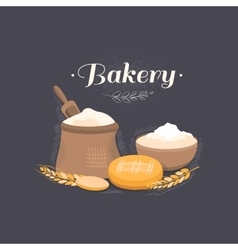 banner bakery vector image