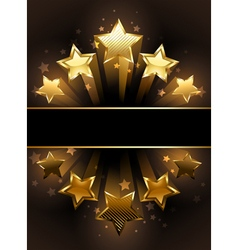 Banner with five stars vector