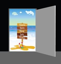 Beach behind the door part two vector