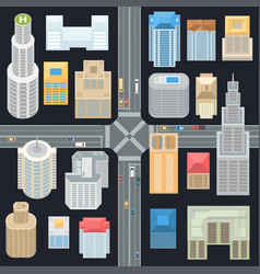 big city elements - set of modern objects vector image