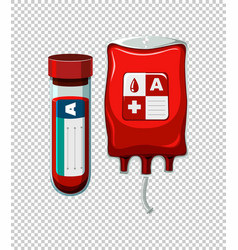 Blood in tube and bag vector