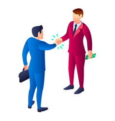 Business bribery icon isometric style vector