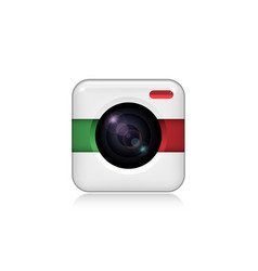 camera for mobile application icon vector image