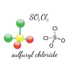 Cl2SO2 sulfuryl dichloride molecule vector