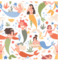 colored seamless pattern fantasy underwater vector image