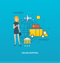 concept - online shopping order purchase vector image