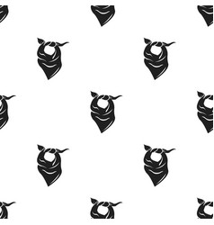 Cowboy scarf icon in black style isolated on white vector
