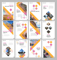 Creative brochure templates with colorful cubes vector