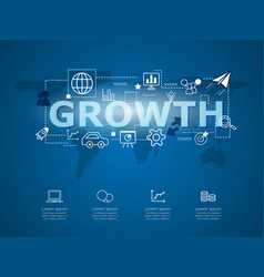creative infographic business growth vector image