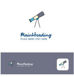 creative telescope logo design flat color logo vector image