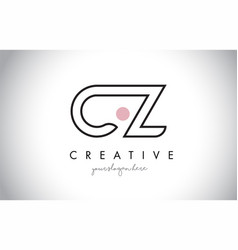 cz letter logo design with creative modern trendy vector image