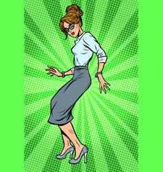 dancing business woman disco dance club music vector image