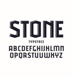Decorative sanserif font with effect volume vector