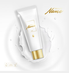 design cosmetics product advertising for catalog vector image