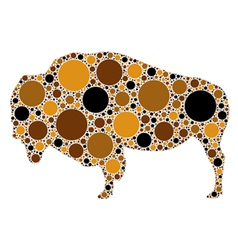 Dotted of buffalo vector