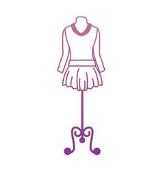 Elegant dress for woman in manikin vector