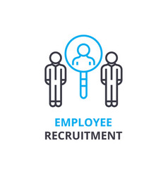 eployee recruitment concept outline icon linear vector image
