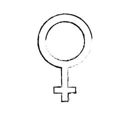 Figure femele gender symbol to special event vector