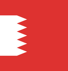 flag of bahrain flag with official colors vector image