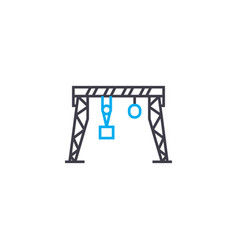 gantry crane linear icon concept gantry crane vector image