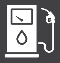 gas station glyph icon petrol and fuel pump sign vector image