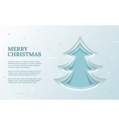 green christmas tree made paper original vector image