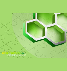 Green hexagonal vector