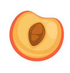 Half tasty peach vector