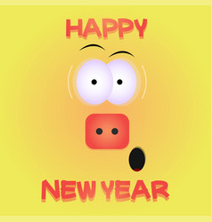 happy chinese new year 2019 zodiac sign funny pig vector image