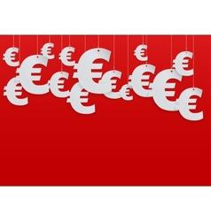 Hung symbols Euro vector