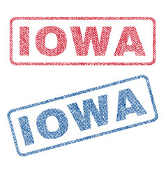 Iowa textile stamps vector