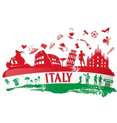 Italian ink background vector