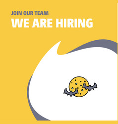 join our team busienss company moon and bats we vector image