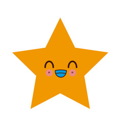Kawaii yellow star winner image vector