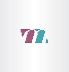 Logotype m logo letter m sign symbol vector