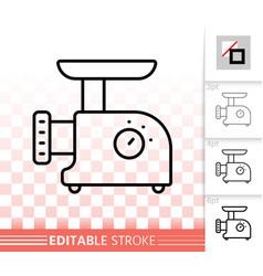 meat grinder simple black line icon vector image