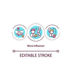 Micro influencer concept icon vector