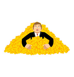 miner bitcoin lucky of profit guy cryptocurrency vector image
