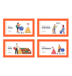 people visiting supermarket for buy grocery during vector image