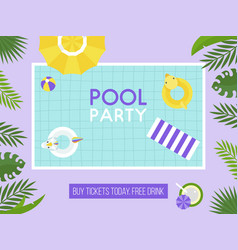 pool party top view swimming pool vector image