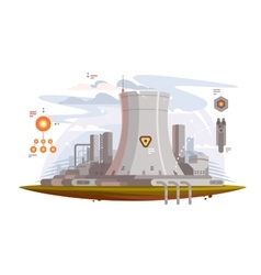 Powerful nuclear reactor vector image