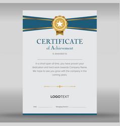 Premium multipurpose blue and grey certificate vector