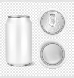realistic 3d empty glossy metal white vector image