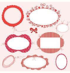Romantic greeting frames set vector image