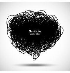 Scribble black bubble for your design vector