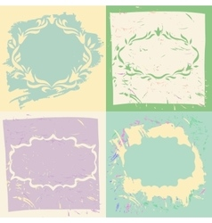 Set backgrounds and frames in pastel colors vector image