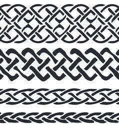 set celtic pattern borders vector image