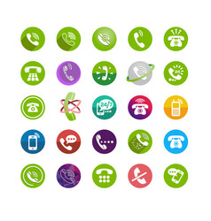 set different icons with phone vector image