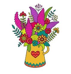 set flowers vector image